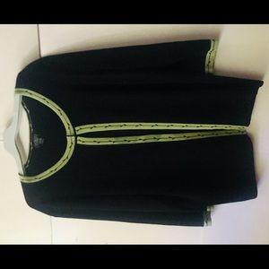 Finity Woman Jacket 2X Shell 1X Black Green Border